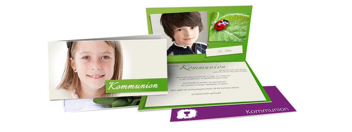 kommunionskarten selbst gestalten, Einladungen