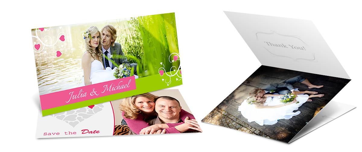 Hochzeitskarten Selbst Gestalten Mit Eigenen Fotos