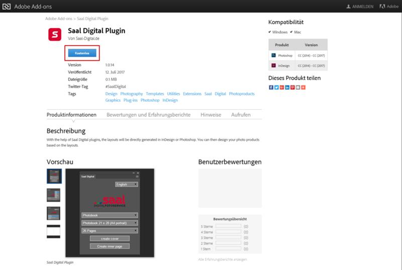 Kompatibilität des Adobe Plugins von Saal Digital